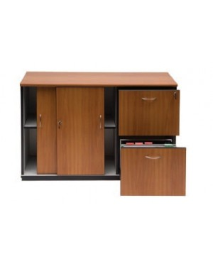 CREDENZA SUSPENSION FILE WITH SLIDING DOOR