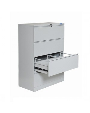 LATERAL FILE 4 DRAWER/ANTITILT/BU/GREY